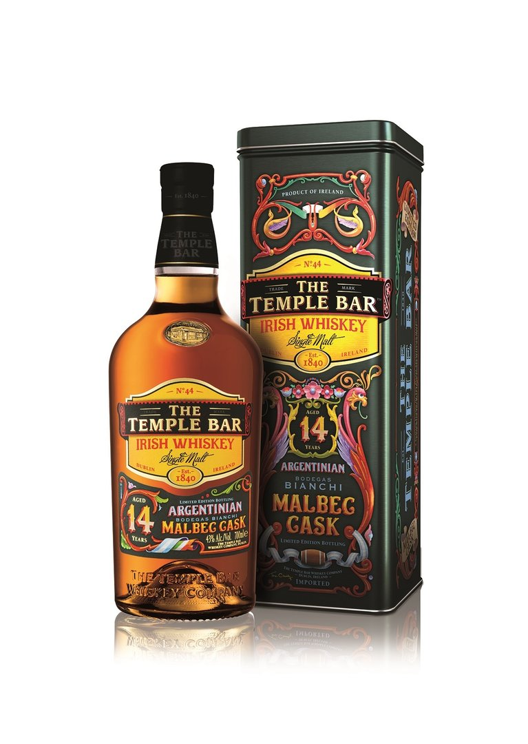 The Temple Bar Irish Whiskey 14 Jahre Malbec Cask